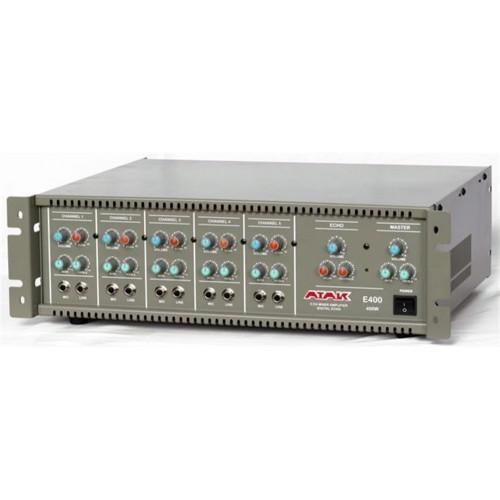 E400 5 kanal mikserli ekolu 400W mono power mikser